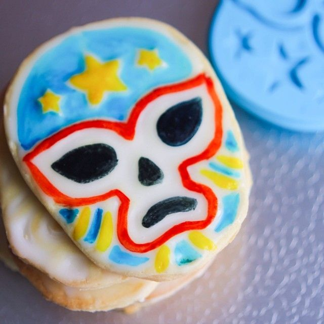 Recipe for Galletas de Lucha Libre (Lucha Libre Cookies) ~ by Flan & Apple Pie
