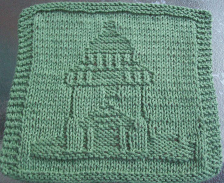 Digknitty Designs Lighthouse Too Knit Dishcloth Pattern