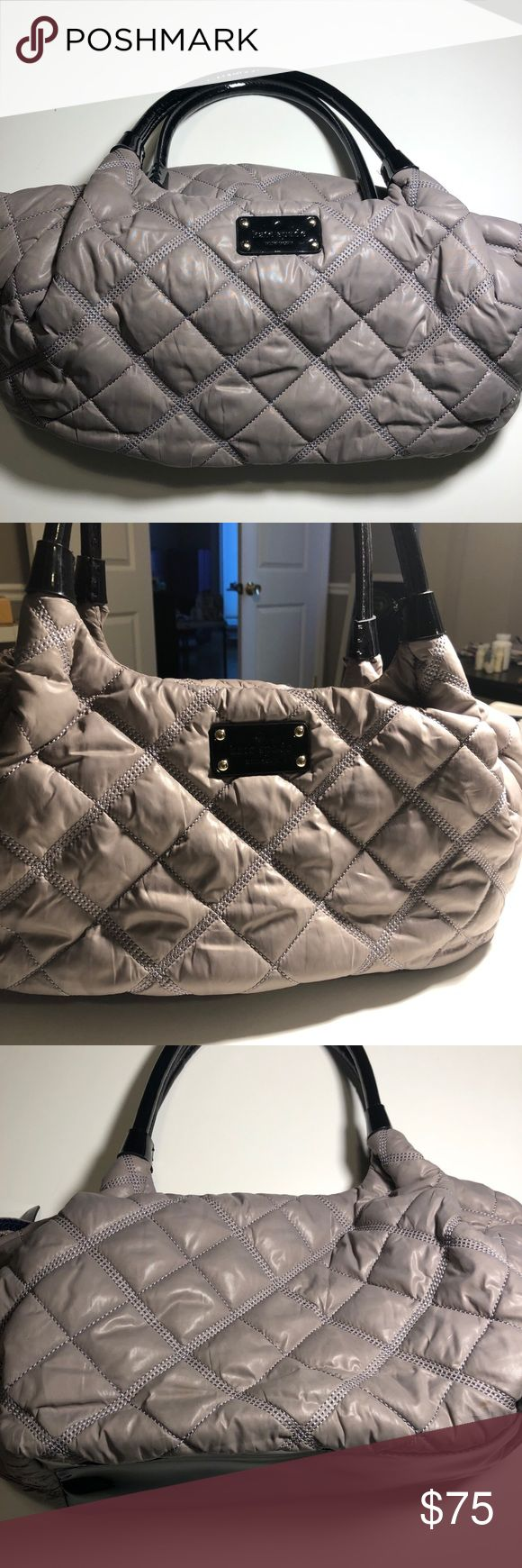Kate Spade quilted nylon shoulder bag Excellent used condition - nylon quilted shoulder bag by Kate Spade.  Zip top closure and inside pockets to keep your items organized. kate spade Bags Shoulder Bags