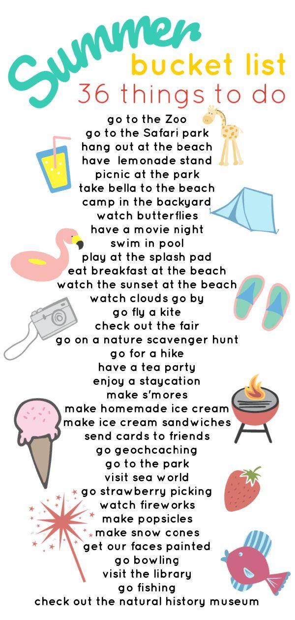 Our 2018 Summer Bucket List – Jessica Lynn Writes