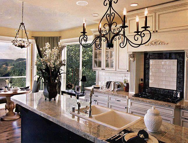 258 best kitchen lighting images on pinterest - Kitchen Chandelier Ideas