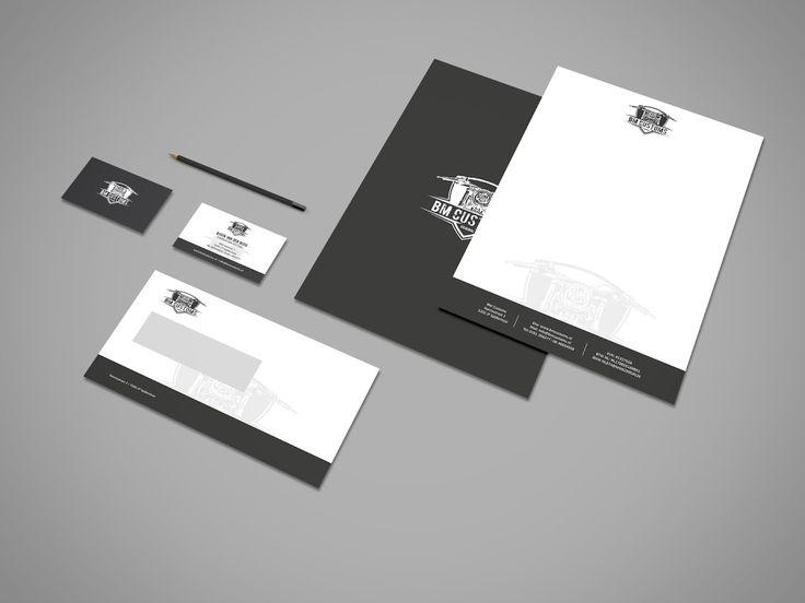 Recent opgeleverd voor BM customs: visitekaartje, enveloppe en briefpapier #huisstijl #ontwerp