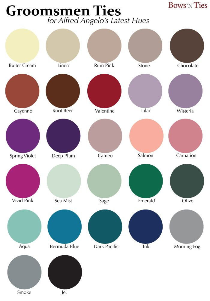 Alfred Angelo color palette. Trendy wedding hues for the 2014 wedding  season. | Steampunk colors | Pinterest | Wedding season, Weddings and  Wedding ties