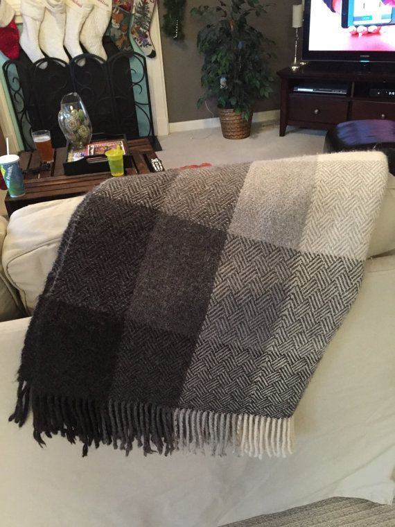 Handwoven 100% Alpaca Blanket Custom Colors and by LaurasWeaving
