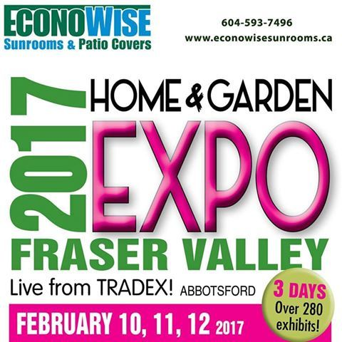 Visit our Booth A2 February 10-12, 2017  Time: Friday 1pm-9pm Saturday 10am-6pm Sunday 10am-4pm  #econowisesunrooms #patiocover #sunroom #pergola #deckmakeover #aluminumrailing #glassrailing #windwall #replacementwindow #vinyl #waterproofing