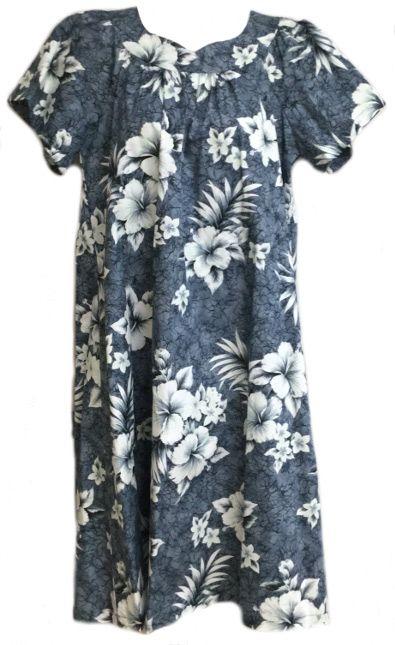 08fe7e695b02 Crack Hibiscus Hawaiian MuuMuu, (Kaftan / Caftan), Pull-Over House Dress  with Petal Sleeves, pocket, regular sizes & plus sizes in a mid-tea length  created ...