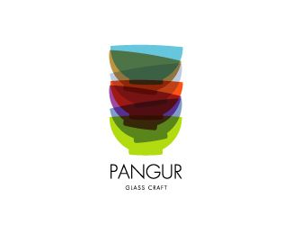The Pangur Glass Craft design from Sean O'Grady. The use of transparency is traditionally frowned upon in logo design, however with modern printing technologies there is little reason to continue limiting the designs of logos. He takes a modern slant on its design and perfectly captures the features of glass craft with the stacking of stylized colored glass objects. Combined with the modern Futura typeface it gives fresh and contemporary image.