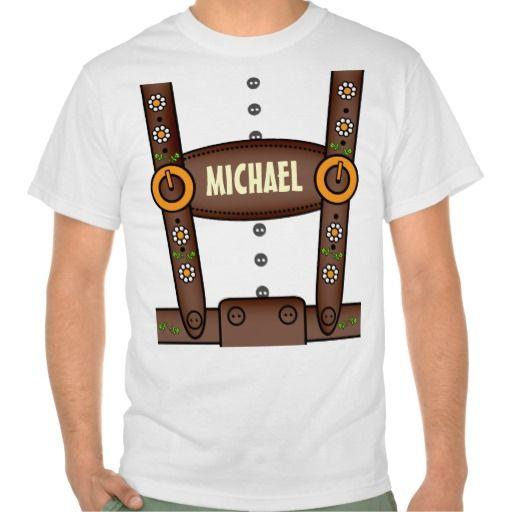 Funny Personalized Lederhosen Oktoberfest Shirt #Personalized #tshirt