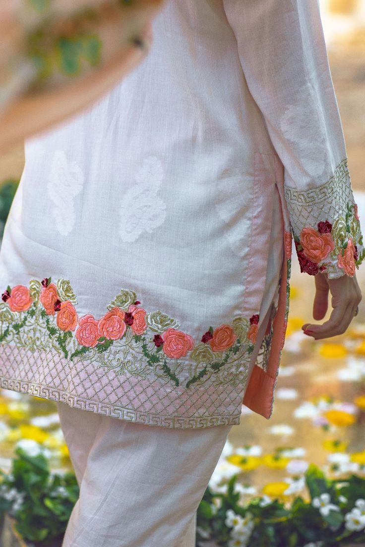 Shirt: Fabric: Embroidered Lawn Shirt Shalwar/Trouser: Fabric: Plain Lawn Trouser Dupatta: Fabric: Tissue Silk Dupatta.