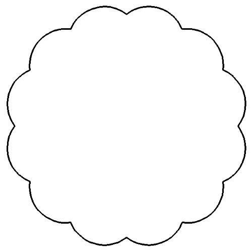 Scalloped Circle Template