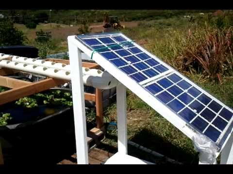 Added various pieces to my little aquaponics project. A couple of 100 gallon rubbermaid tubs, a pvc raceway, and another solar panel. No apparent design and engineering involved. Once I decide how to maximize the efficiency of the parts to work together, I will rearrange them. Currently I have 2 separate solar panels powering 2 DC bilge pumps, a DC air pump, and charging a deep cycle marine battery. I also have an Arduino cycling one of the pumps on and off. I have a half dozen tilapia...
