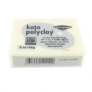 Pâte polymère Kato Polyclay  56 gr Translucide (n°210) : L'argil