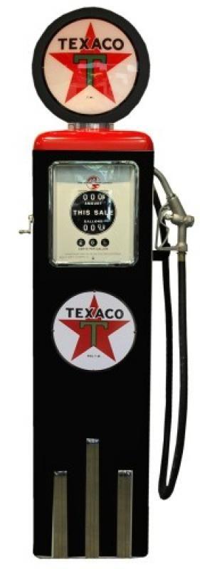 POMPE A ESSENCE TEXACO - NOIRE ET ROUGE