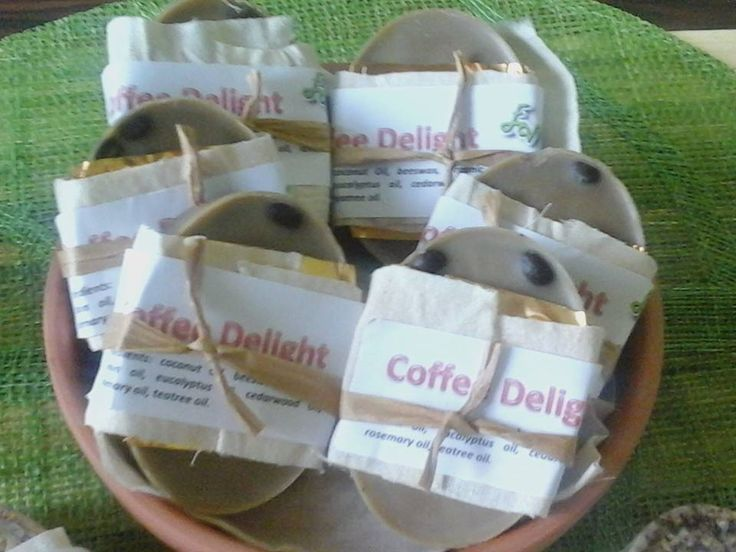 Ahh, the smell of coffee. Coffee Delight Bars.... And it has even better properties for the skin. Use this wonderful lotion bars to help with dry skin, and even chase away a few bugs. Can be purchased online or in store.