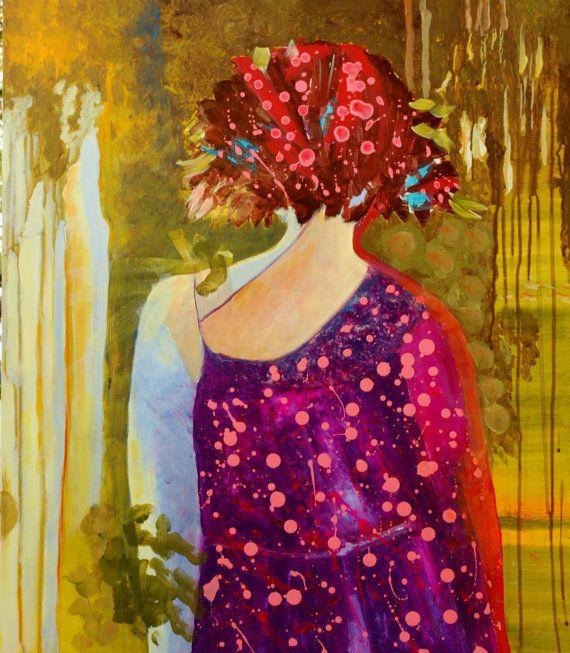 Fashionable woman original acrylic painting by TanabeStudio, zł790.00