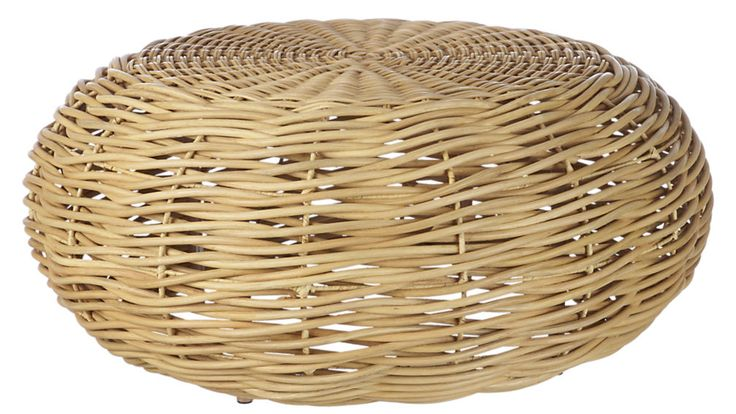 nest rattan coffee table | CB2