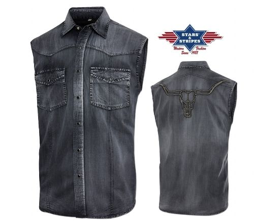 com Stars /& Stripes Uomo Camicia Da Western Jack Black Western moda westernwear-SHOP