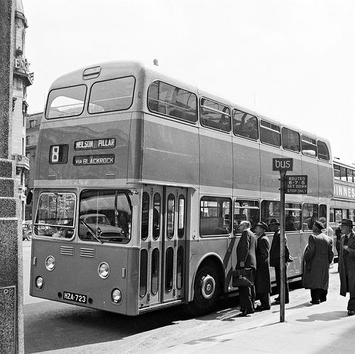 Brand Spanking New Bus on O'Connell Street, May 1960