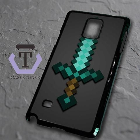 Minecraft Green Mint Sword Samsung Galaxy Note Edge Black Case