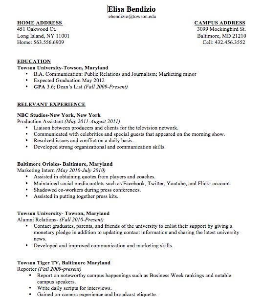 18 best resume images on Pinterest Resume examples, Resume and - broadcast journalism resume