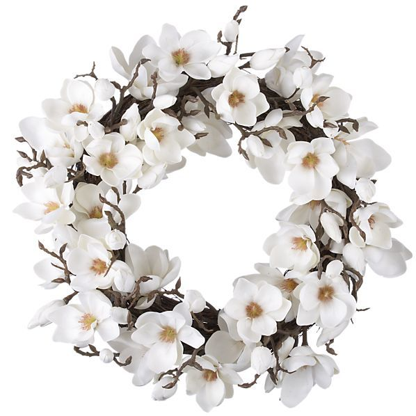 Magnolia Wreath. I NEED this.Magnoliawreath, Holiday Wreaths, Crafts Ideas, Magnolias Wreaths, Anuario Ideas, Crate And Barrel, Barrels Magnolias, Accessories, Crates And Barrels