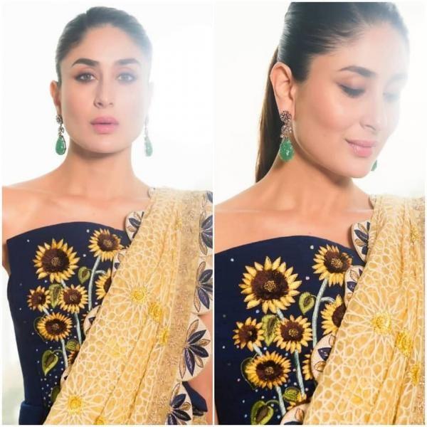 Pin By Aqsa Roy On Kareena Kapoor Veere Di Wedding Yellow Floral Dress Kareena Kapoor Khan