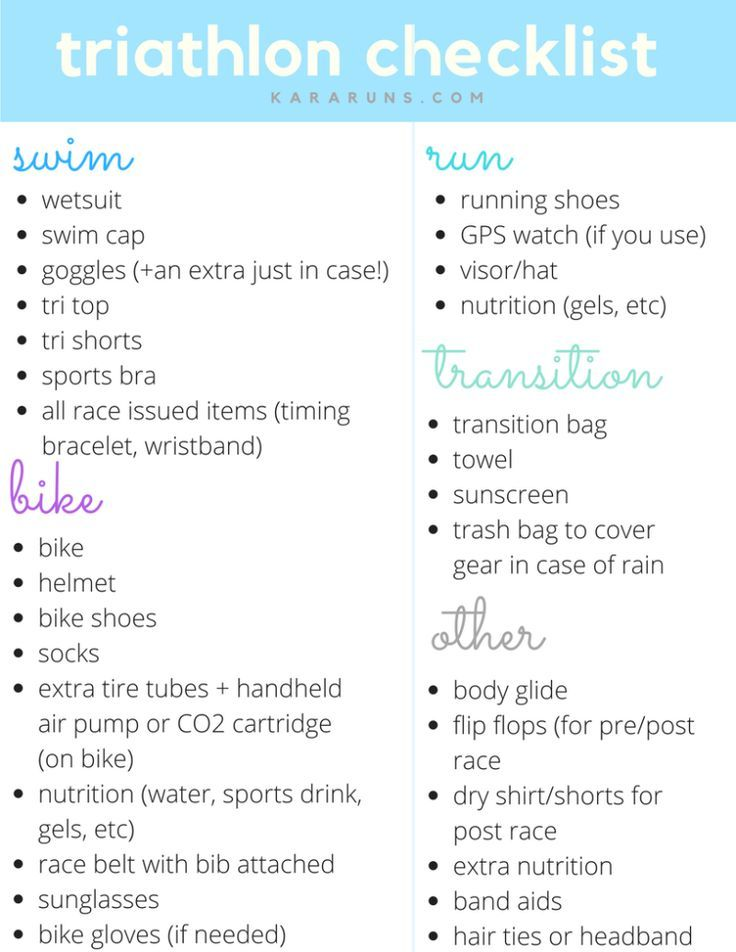 Best  Triathlon Checklist Ideas On   Triathlon Store