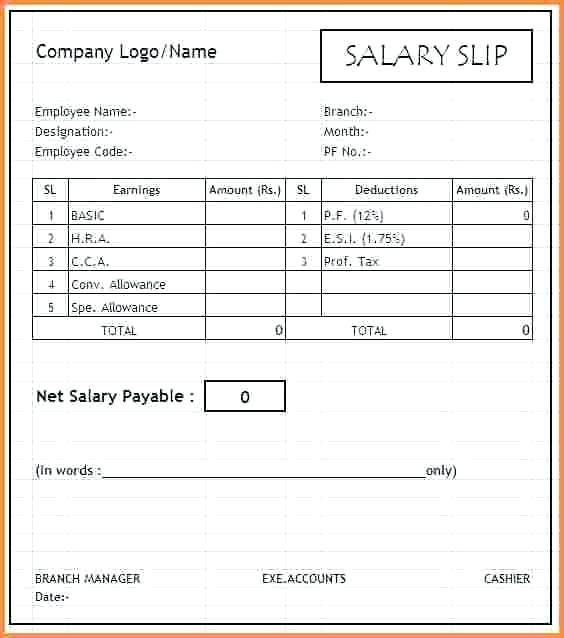 #15+ Payslip Template Uk Excel