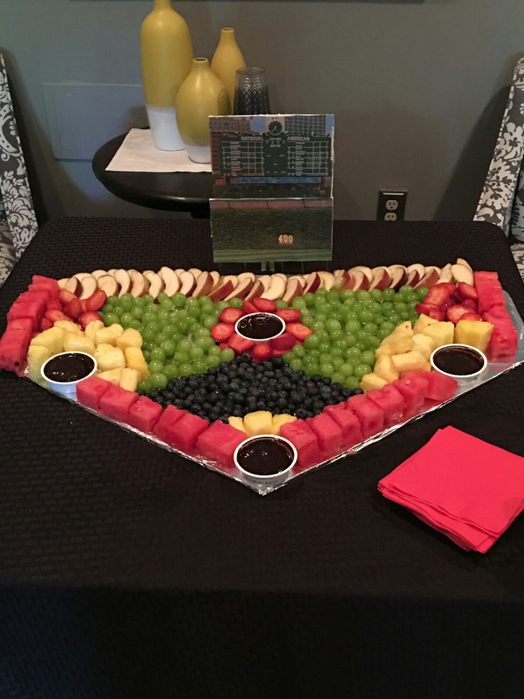 Baseball Field Fruit Tray For Some Healthy Birthday Snack Options