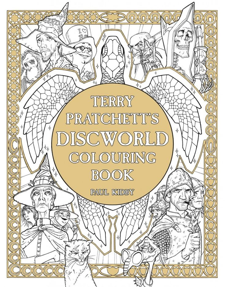 Terry Pratchett's Discworld Colouring Book - Pre-order ~ Discworld.com