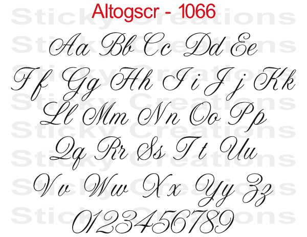 Custom text script lettering sticker vinyl name