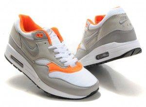 Nike Air Max 1 Gris/Blanc/Jacinth Chaussures Homme