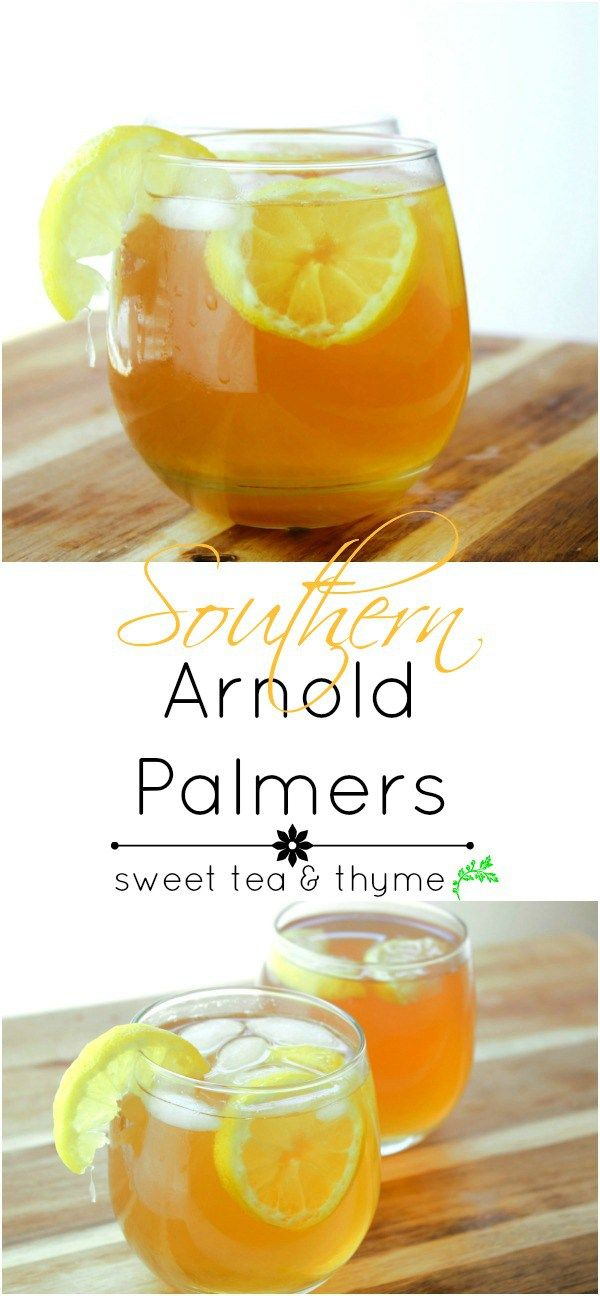 The Arnold Palmer, a mix of tea and lemonade, with a little Southern hospitality. You won't want to drink anything else for a long, long time. www.sweetteaandthyme.com