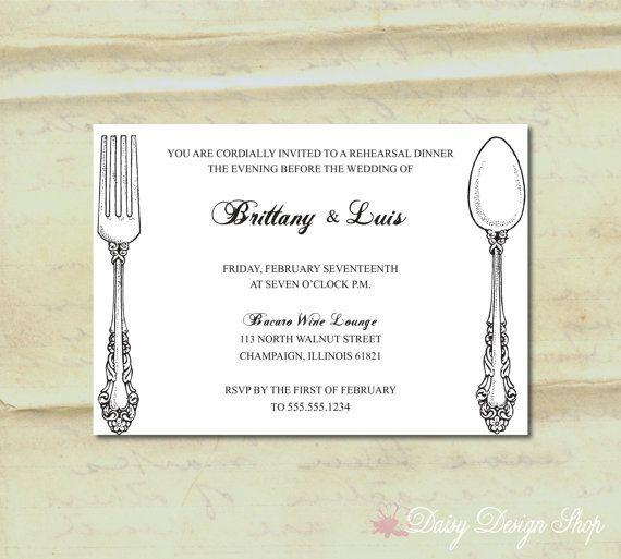 Rehearsal Dinner Invitation for Wedding  by DaisyDesignShop, $1.50