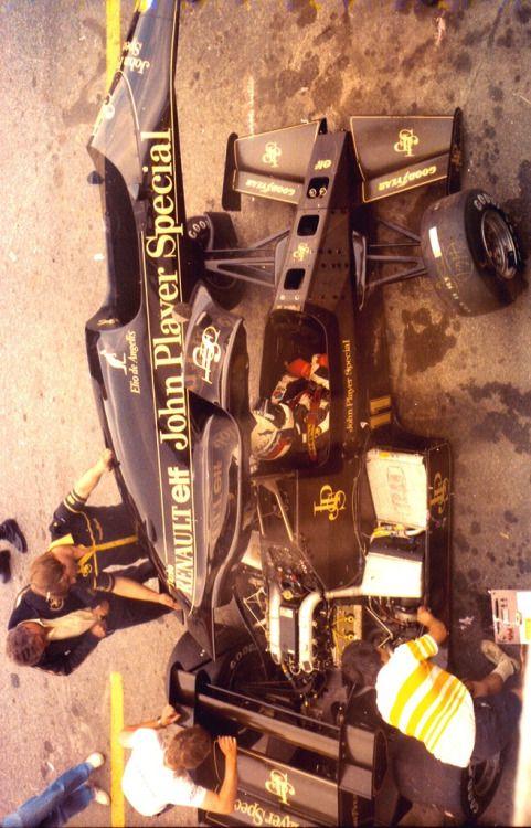 de angelis with lotus team 1984
