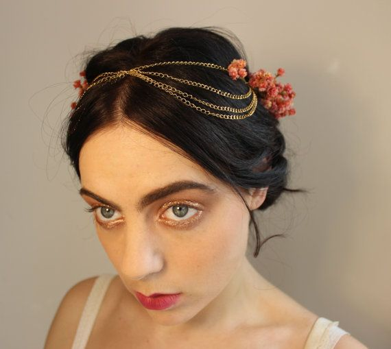 Primavera III  Wedding Headpiece Flower Crown  by rightfulowner