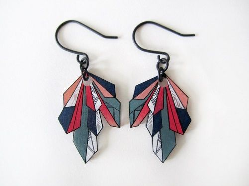 Geometric Shrink Plastic Jewelry by Anne Tranholm ~ The Beading Gem's Journal