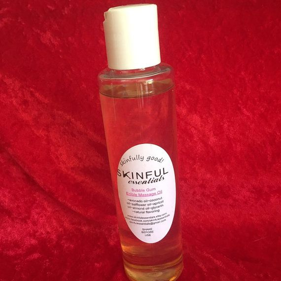 Candy Cane flavor, Stocking stuffer, Edible massage oil, all natural, sensual massaging oil
