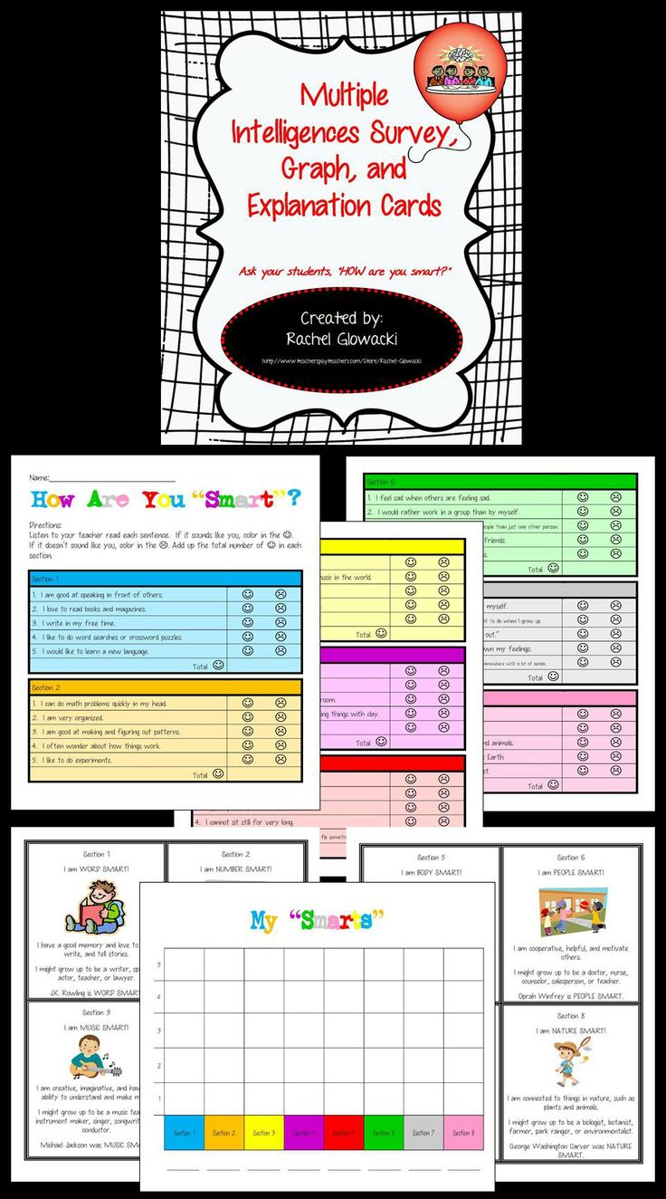 17 best ideas about multiple intelligences activities multiple intelligences survey graph and explanation cards