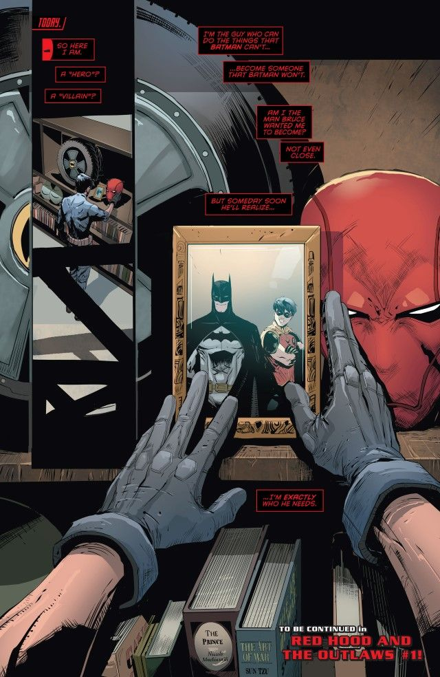 Jason Todd and Batman part 4 in Red hood and the Outlaws Rebirth.
