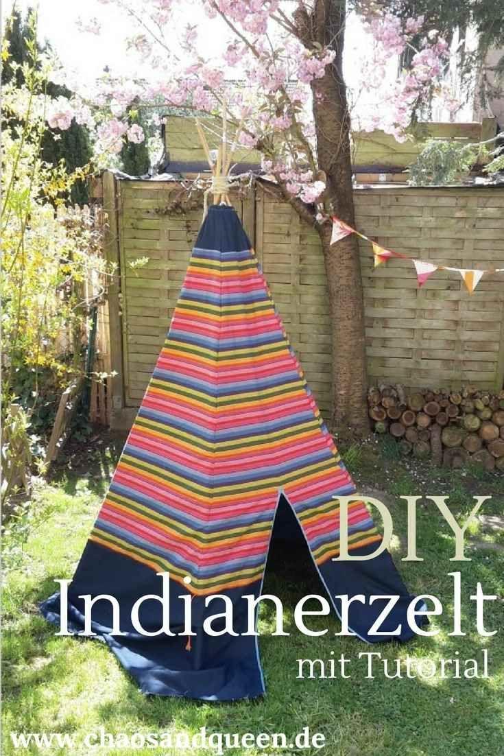 Ihr möchtet Euren Kindern/Eurem Kind ein eigenes Tipi nähen? Hier gibt es eine kurze Anleitung zum DIY Indianerzelt. Schaut doch mal rein. Tipi nähen // Indianerzelt nähen // DIY Gartenspielzeug