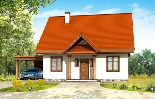Projekt Bajkowy to propozycja dla 4-5 osobowej rodziny. Domek jest nieduży, ale spełnia wszystkie funkcje, którymi powinien charakteryzować się prawdziwy dom. Na parterze domu Bajkowy zaprojektowany został dodatkowy pokój, mogący spełniać funkcję gabinetu, sypialni babci lub pokoju gościnnego.