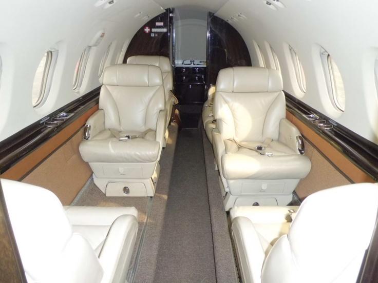 Interior of Hawker 850 xp.
