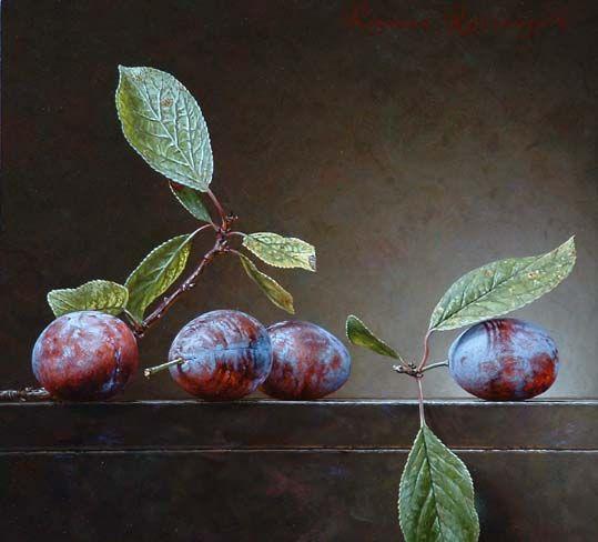 Roman Reisinger - Still life with 4 prunes