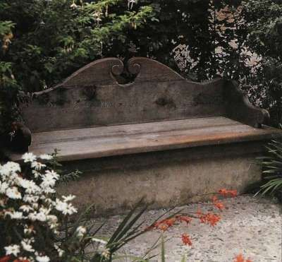 Rest: Art Benches, Wooden Benches, Benches Storage, Idea 16, Benches Gardens, Depot Aprons, Outdoor Idea, Patio Ideas, Benches Corner