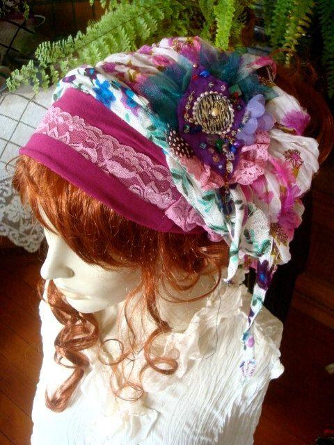 Headwrap Womens chemo hat  chemo headscarf by GypsyLoveHeadbands