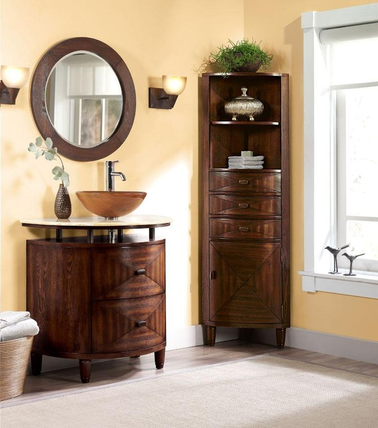 bathroom spacious bathroom design perfected with wooden corner cabinet also elegant vanity sets plus rounded