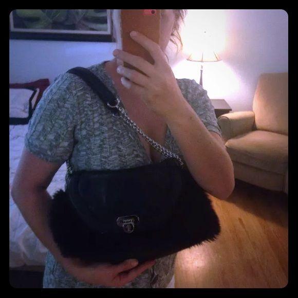 Jennifer Lopez fake fur purse Jennifer Lopez purse Jennifer Lopez Bags Shoulder Bags