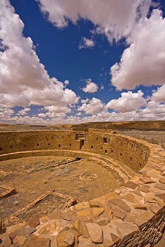 Great Kiva (Ancient Ceremonial Center) in Chaco Canyon, New Mexico