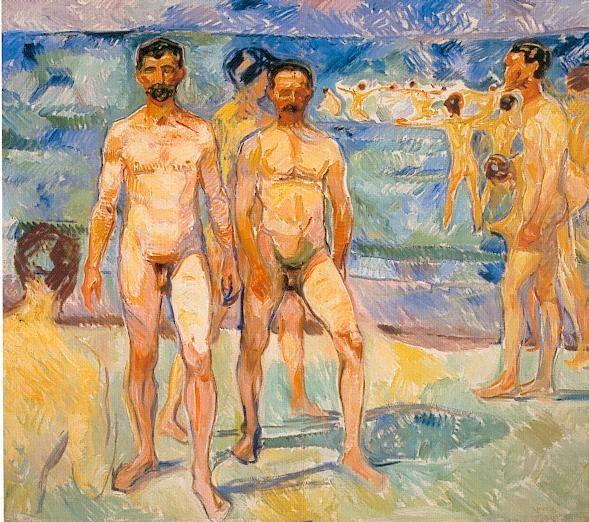 Hombres bañandose (1907, Galería Nacional de Finlandia)
